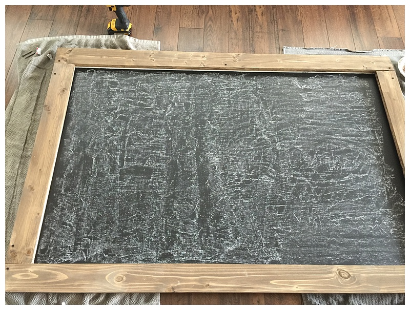 DIY Large Chalkboard - The Blooming Nest