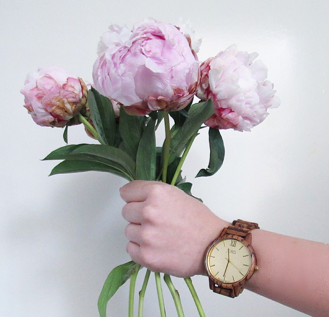 Jord Wooden Watch Pink Peonies The Blooming Nest