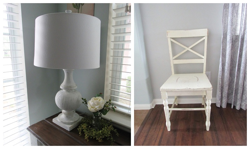 before picture of chair and lamp
