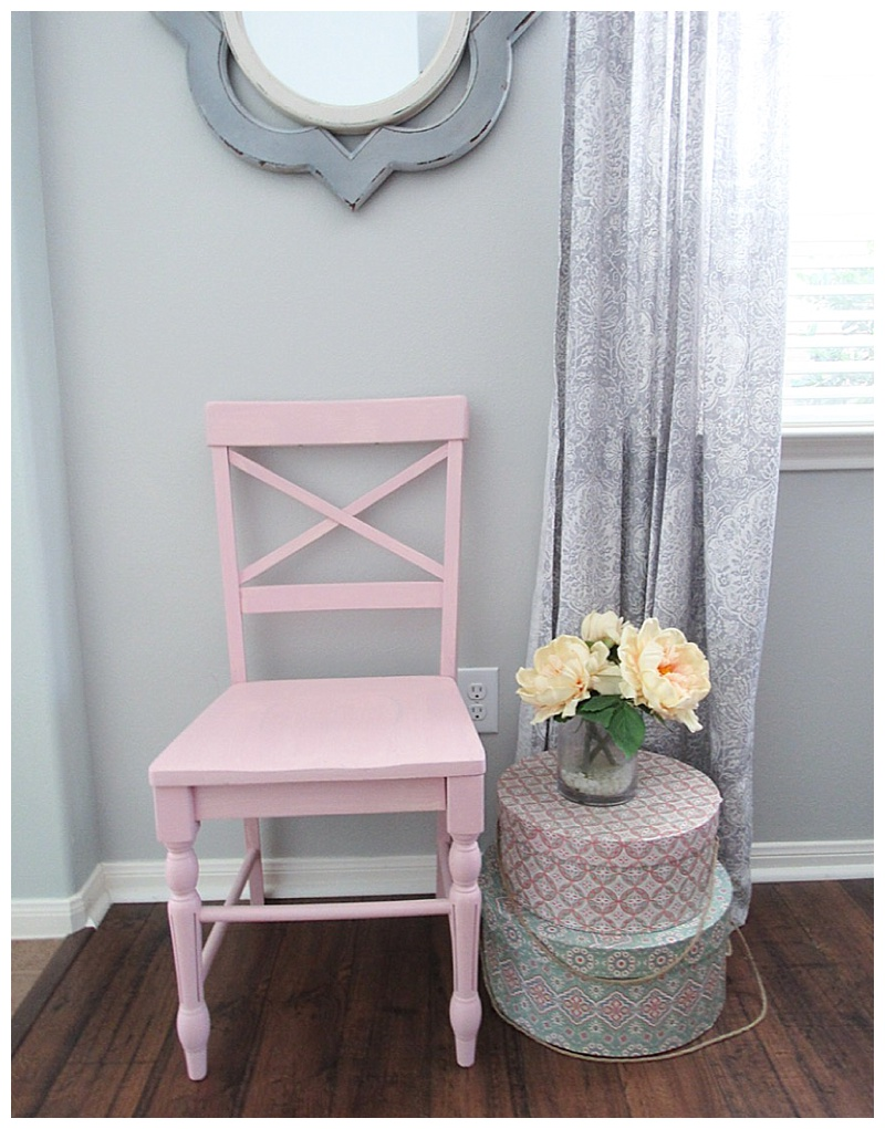 pink chair chalk paint