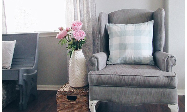 Pleasant Painting Upholstery With Chalk Paint The Blooming Nest Machost Co Dining Chair Design Ideas Machostcouk