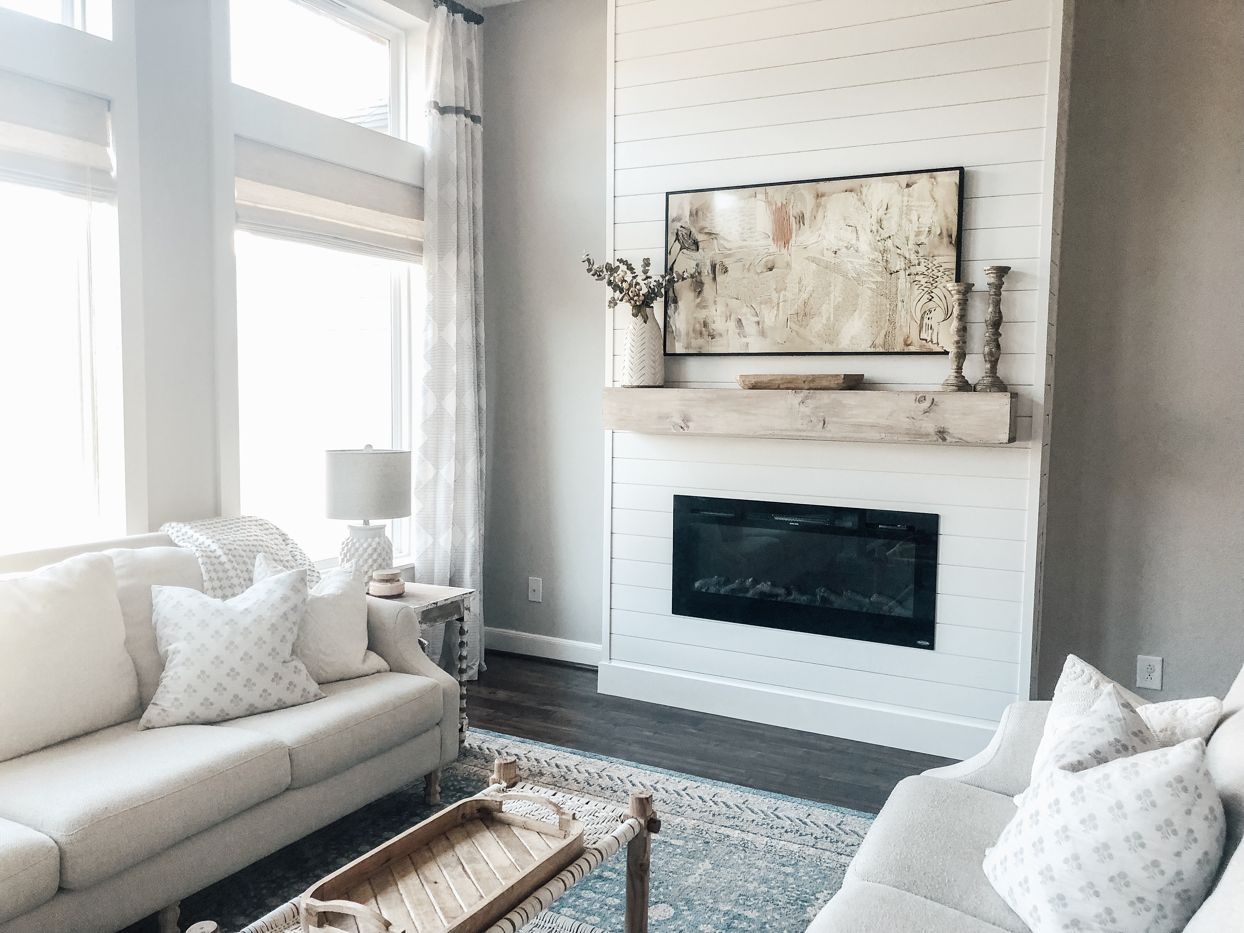 DIY Fireplace and Samsung Frame TV   The Blooming Nest